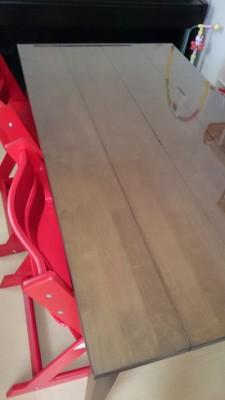 テーブルの溝の汚れ防止