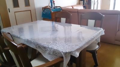 透明のテーブルクロス