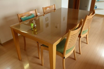 透明のテーブルマット