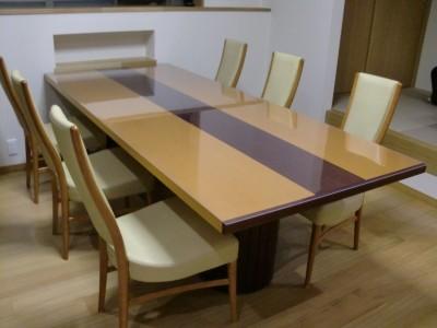 大きいテーブルマットの切断面について写真と感想
