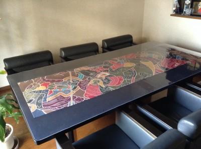 応接テーブルのマット