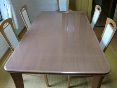 丸角のテーブルマット