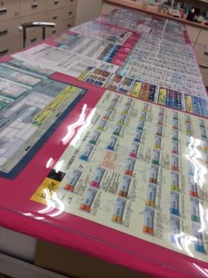 薬局の作業台マット