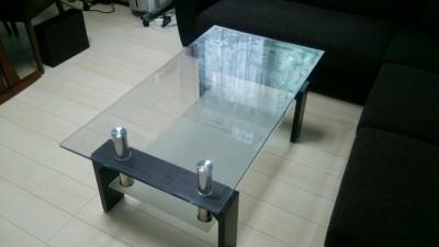 ガラステーブルの手垢防止