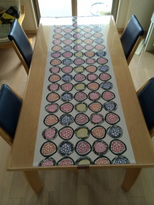 テーブルクロスと透明マット