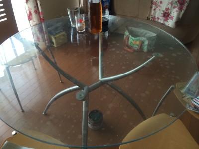 円形ガラステーブルのマット