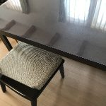 ナフコのテーブルに透明マット