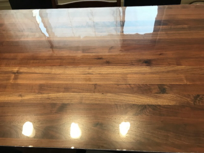無印良品のダイニングテーブル180cmにマット