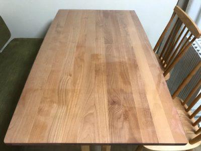 オイル仕上げテーブルの水拭き