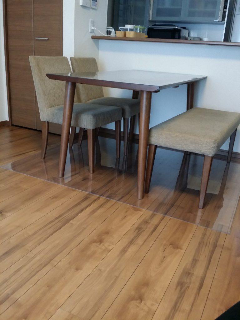 床用の透明マットに利用