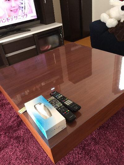 正方形のリビングテーブル