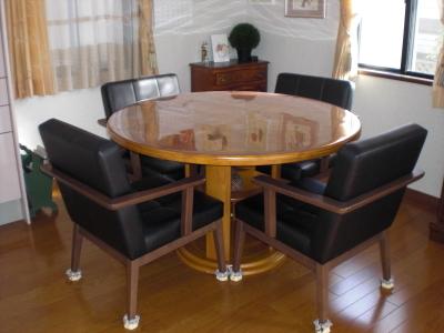 円形テーブル保護マット