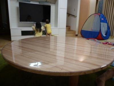 丸テーブル保護マット