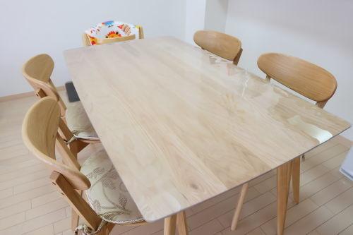 4辺曲線のテーブルマット